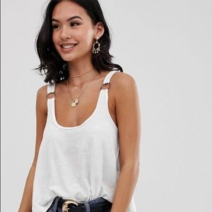 FP We The Free Carly Tank Ivory Swing Top
